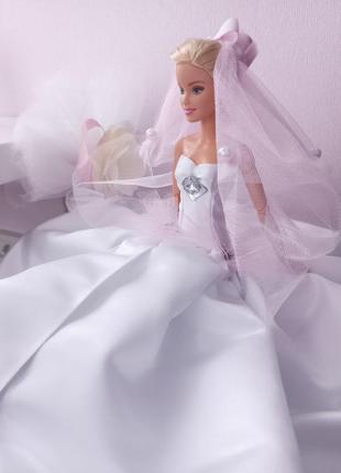Свадебное платье для куклы барби barbie