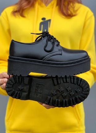 Женские демисезонные туфли dr.martens🔥весна осень, черные