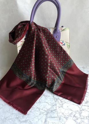 Двухсторонний шарф шелк+шерсть