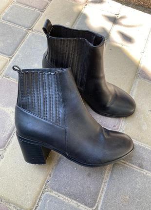 Демисезонные ботинки осенние на каблуке asos