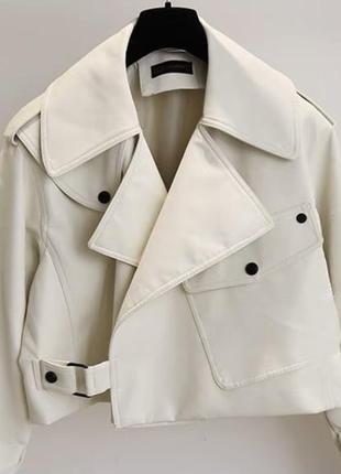 Трендовая куртка косуха из эко кожи, кожаная куртка