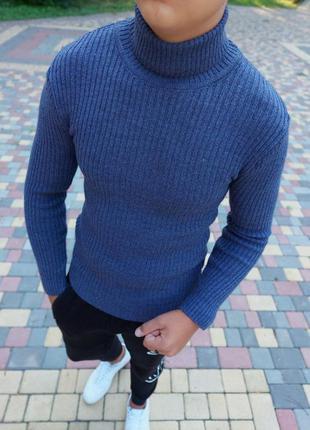 Шерстяной свитер кофта джемпер гольф мужской