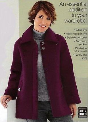 Брендовое флисовое демисезонное пальто oversize anne de lancay этикетка большой размер