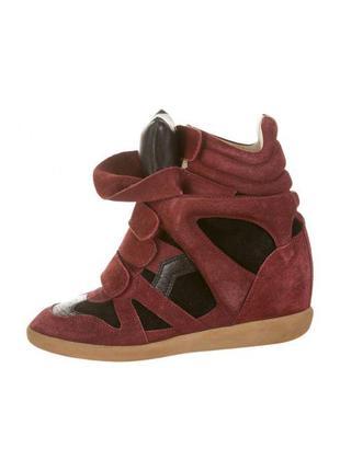 Isabel marant сникерсы кроссовки натуральные