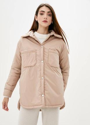 Бежевая куртка рубашка