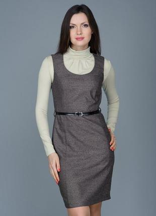 Cероe платье , сарафан, 38/m, s/8.