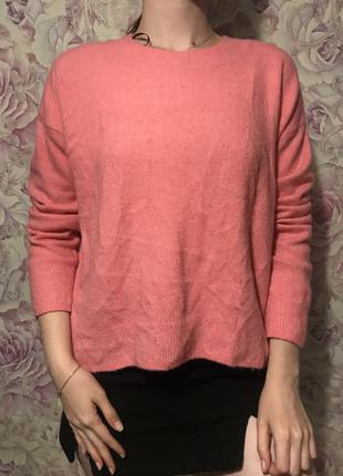 Розовый свитер h&m s-m-l