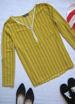 Трендовая блуза в полоску, рукава регулируются