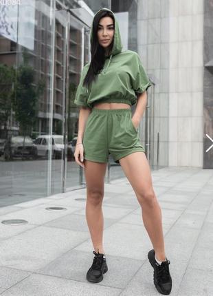 Женский спортивный костюм staff outt green