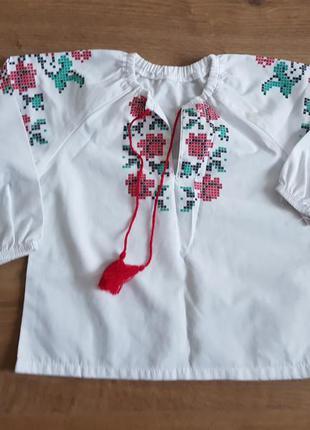 Вышиванка для девочки на 2-4 года