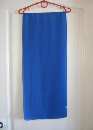 Итальянский шелковый платок в горошек / шифоновый легкий шарф из вискозы и шелка