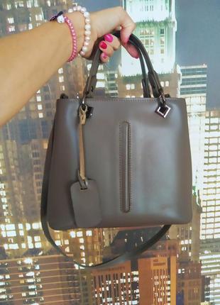 Virginia conti италия натуральная кожаная сумка сумочка шкіра шкіряна