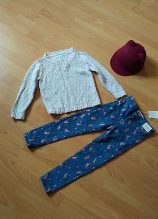 Теплый вязаный свитшот свитерок свитер кофточка англия как новый
