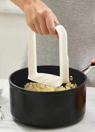Картофелемялка толкушка картофеледавилка пресс для картофеля пюре пластиковая