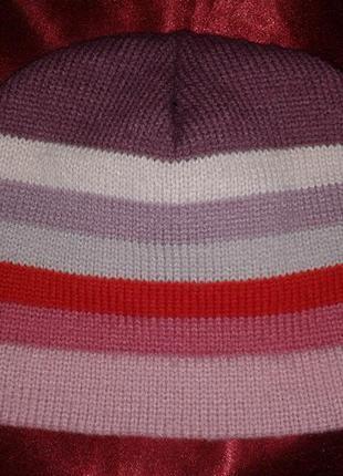 Зимняя вязаная шапка в полоску (#167) только продажа