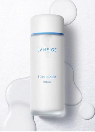 Увлажняющий питательный тонер для лица laneige cream skin refiner, 150 мл