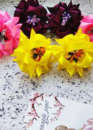 Бантики резиночки резинки цветочки