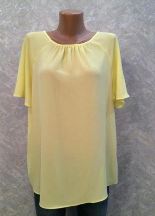 Блузка сзади с завязкой размер 16 -18  f&f