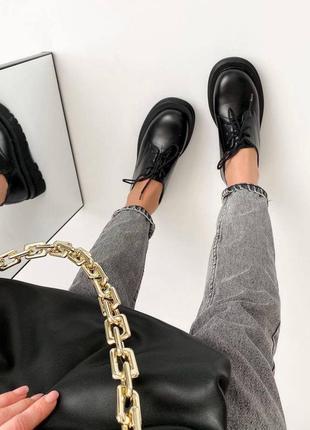 Ботинки черные/броги