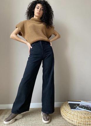 Джинсы палаццо, клёш, трубы, чёрные джинсы, top shop, джинси
