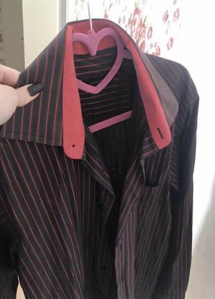 Рубашка фирменная в полоску сорочка