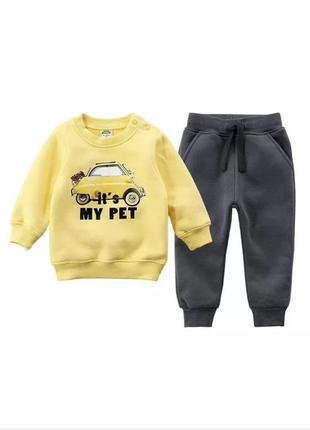 Детский костюмчик с машинкой 2021 костюмчик для мальчика