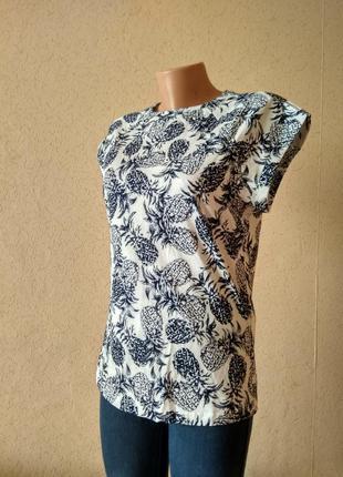 Оригінальна біла футболка з принтом. 100% бавовна. oodji блуза