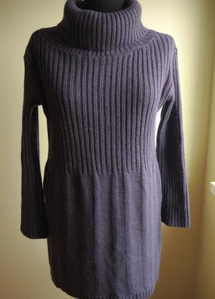 Итальянское шерстяное платье (50% шерсти)