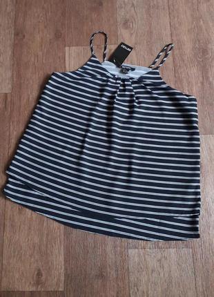 Акция!!! полосатая блуза 👍 двухслойный топ esmara германия