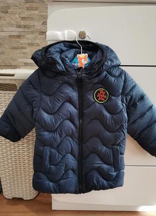 Куртка демисезонная теплая на мальчика стеганная 2-5 лет