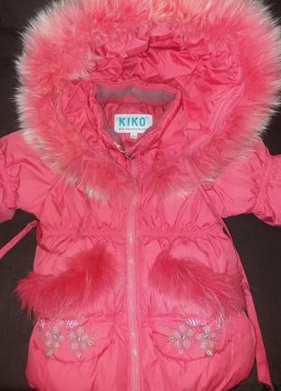 Зимний детский комбинезон бренда kiko