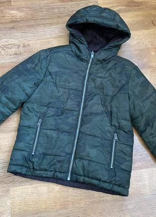 Двусторонняя курточка демисезонная тм «datch»  р.m/7-9л./122-134см.