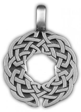 Кулон подвеска амулет кельтские узы олово - привлекает любовь