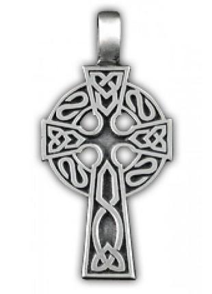 Кулон подвеска амулет кельтский крест олово - дарит мудрость и защищает