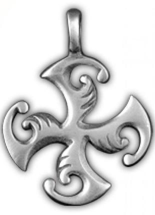Кулон подвеска амулет крест гаммата олово - дает силу и энергию