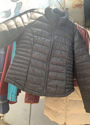 Чёрная куртка демисезонная куртка стеганая куртка весення куртка базовая курточка