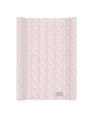 Пеленатор ceba baby 50х70 pastel collection cable stitch pink