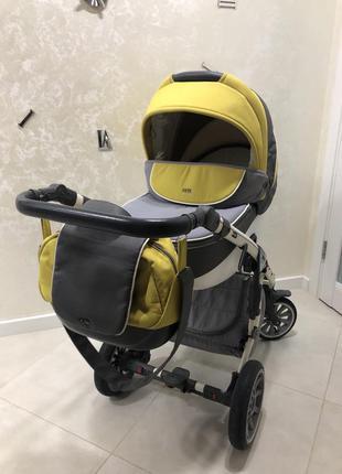 Опис коляска 2в1 anex sport 2.0 q1 sp18 yellow stone жовтий