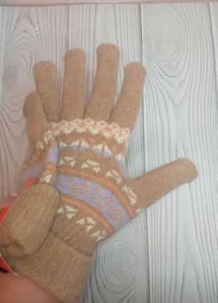 Перчатки рукавицы женские  шерсть