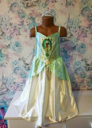 Платье принцессы тианы, принцесса лягушка, карнавальный костюм