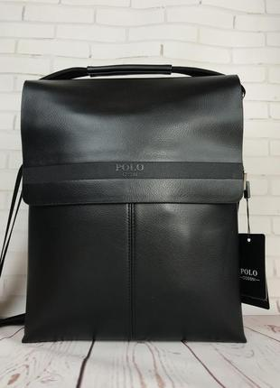 Большая сумка polo под формат а4 размер 33 на 26 портфель кс95