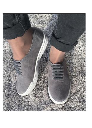 Женские туфли мокасины под замшу