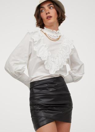 Новая кожаная юбка h&m.