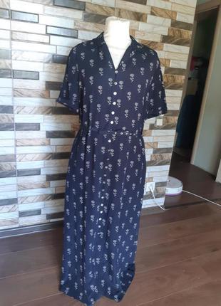 Шёлковое платье на пуговках laura ashley