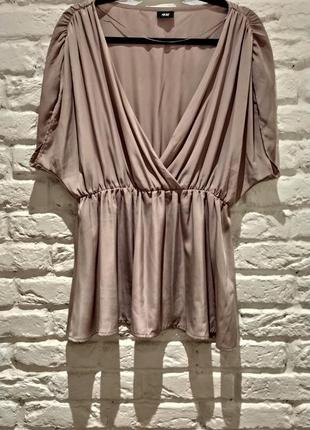 Блуза сводного кроя пудрового цвета