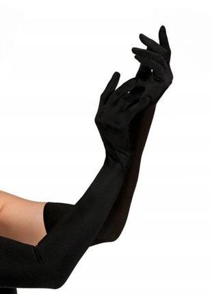 Длинные чёрные перчатки