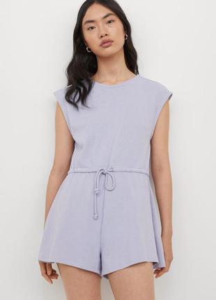 Комбинезон лавандовый красивый с шортами нежный стильный комбінезон ромпер тренд брендовий гарний