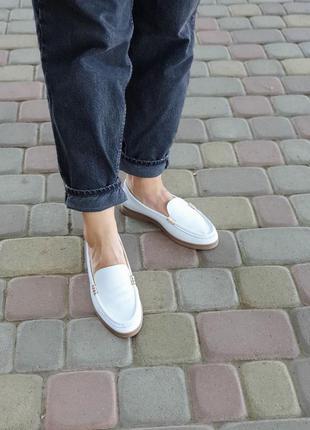 Лоферы балетки натуральная кожа туфли