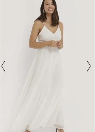 Свадебное вечернее повседневное платье сарафан