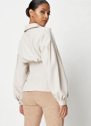 Женская рубашка с объемными рукавами, рубашка с корсетом, корсетная рубашка, сорочка